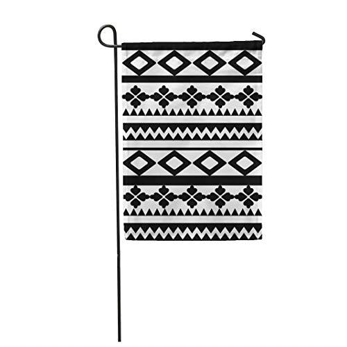 12,5 'x 18' Gartenflagge Aboriginal Tattoo Maori Polynesian Armband Arm Schwarz Home Outdoor Dekor Doppelseitige wasserdichte Yard Flags Banner für Party