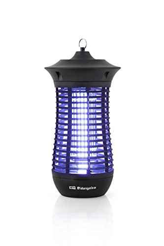 Orbegozo MQ 4018 - Mata mosquitos eléctrico para uso interior y exterior con área de acción de 160 m2, diseño vertical, 18 W