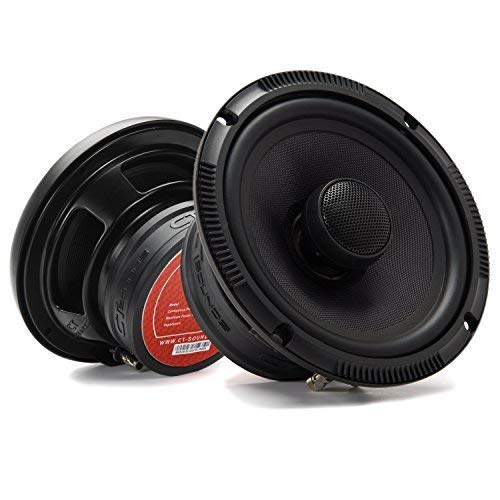 CT Sounds 6.5 Inch Coaxial Car Speakers - 4-Ohm Impedance, 2 Way Full Range, 1.4' Voice Coil,...