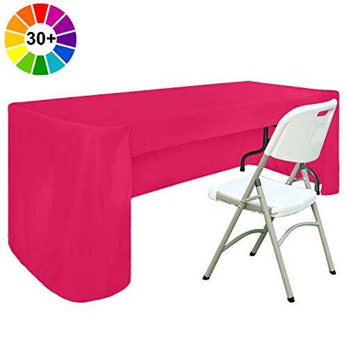 ABCCANOPY 6 FT Rectangle Tablecloth Table Cover for Rectangular Tables in Washable Polyester-Great for Buffet Table, Parties, Holiday Dinner, Wedding & More(Magenta)