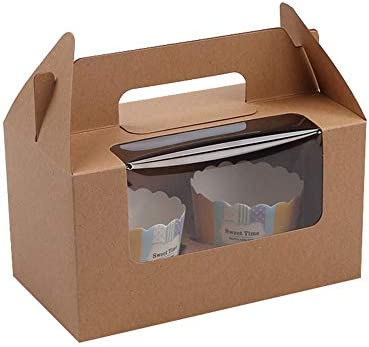 Cupcakes Containers 50 Pack 2 Holders Cupcake Boxes Cupcake Wrappers with Insert and Display product image