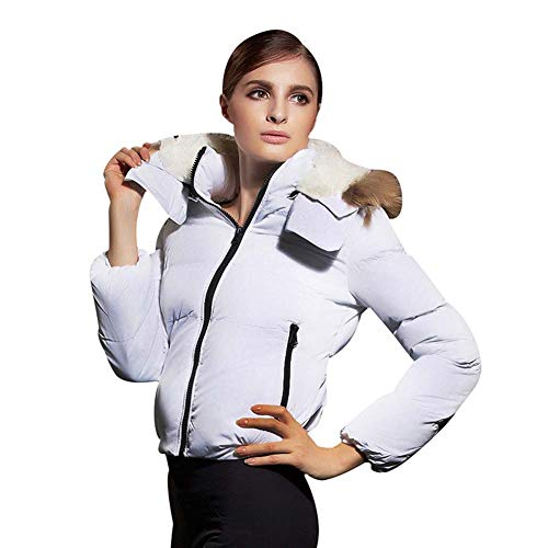 ELEAMO Womens gewatteerde jas met capuchon Womans winterjas dikker korte slanke ultralichte capuchon Puffer jas dames mode warm donsjack