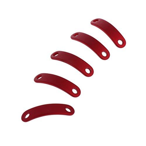 MagiDeal 5pcs Zeltleinenspanner ALU Zeltspanner Schnurspanner Zeltleine Zweilochspanner - Rot