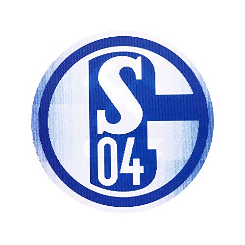 Schalke 04 FC Aufkleber/Autoaufkleber 3D Glück Auf ( Blau)