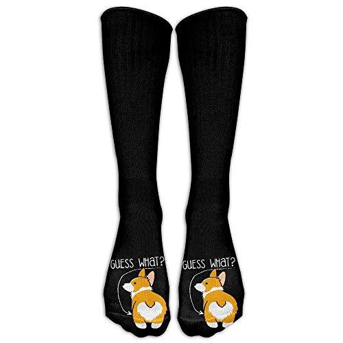 Fertigen Sie Mode-hohe lange Socken-Liebes-Corgi-Hintern-Hundeliebhaber-Mannschafts-Strümpfe für das Wandern, Laufen, Volleyball besonders an