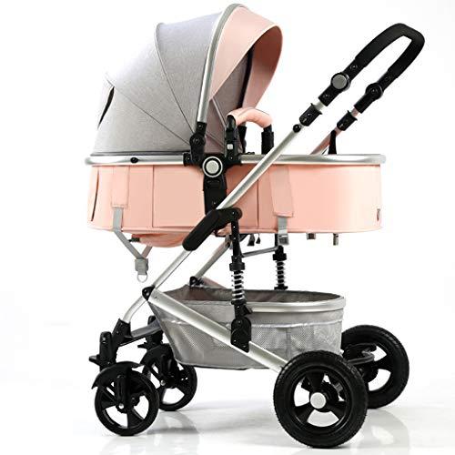Baby carriage HLF- Poussette multifonctionnelle, lit d'enfant Mobile et Conception d'absorption des Chocs Pliable, Facile à Transporter, adaptée aux Enfants de 0 à 3 Ans