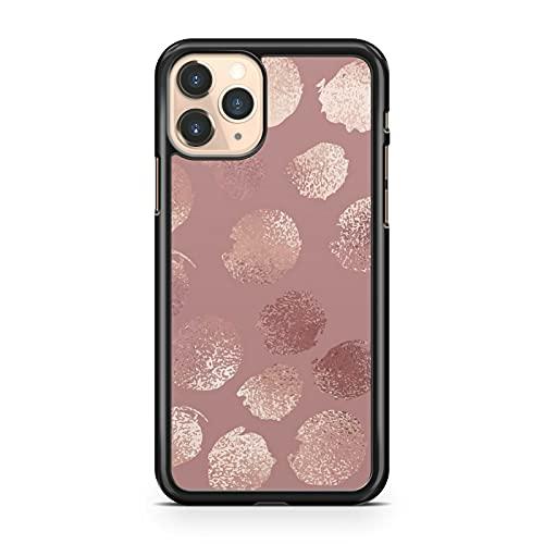 Compatible con Glamorous Elegant Rose Golden Polka Dots Pattern Artístico Cool Phone Case Cover Cover (Modelo de teléfono: Compatible con LG G7 ThinQ)