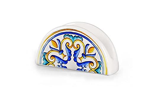 GICOS IMPORT EXPORT SRL Porta tovaglioli portatovaglioli in Ceramica Cucina Bar Ristorante 13 * 7 cm Decoro Terra d'amuri TAW-817618