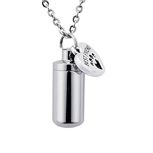 Door Pet Paw Cilinder Crematie Assen Urn Ketting Memorial Hanger Keepsake Sleutelhanger RVS Asjuwelen Best Friend