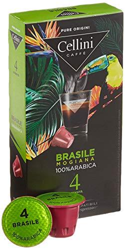 Cellini Espresso Brasile Mogiana Kaffeekapseln, Intensität 4, 10er Pack (10 x 10 Kapseln)