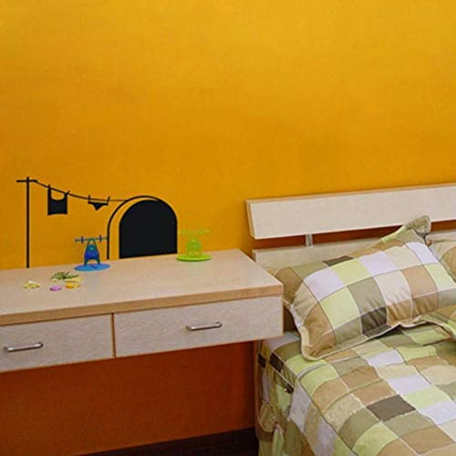 VCTQR Muursticker Mode Nieuwe Vliegtuig Muursticker Nep Cave Telefoon Paal Waslijn Muurstickers voor Slaapkamer Decor Home Tuin Decoratie