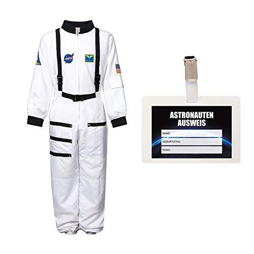 Kostümplanet® Astronauten-kostüm Kind Astronaut Kinder-kostüme Fasching Astronauten-Anzug Verkleidung Space Weltall Raumfahrer Outfit Junge Größe 164