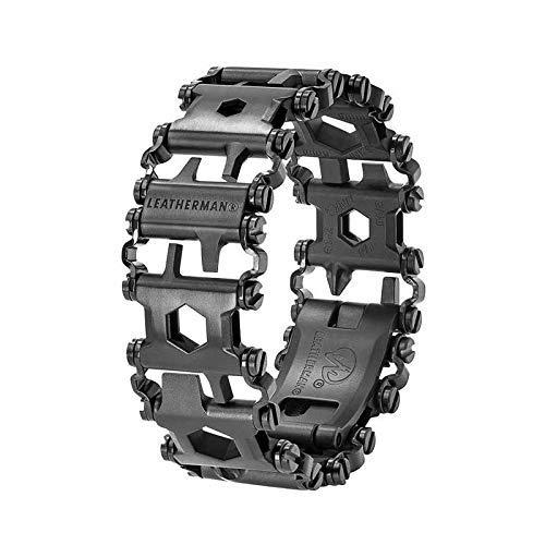 LEATHERMAN Tread, Multi-Tool Armband, 29 Werkzeuge stets griffbereit am Handgelenk, flexibel einstellbar, Schwarz