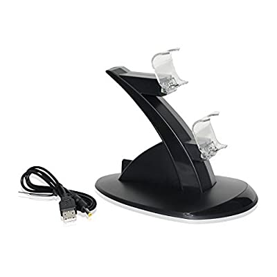 REYTID PS4 Twin Floating Controller LED Charging Dock - Wireless Controller Battery Charge Cradle - Dual Docking Station - Sony Playstation 4 from REYTID