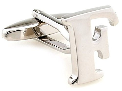 TEROON Cufflinks Lettre initiale 'F' [Bouton - NON paire]