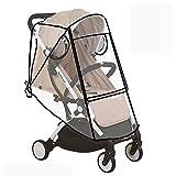 XIAOTING ベビーカーベビーカーバギーベビーストローラー、屋外の旅行のためのEVA素材の赤ちゃん旅行天気シールド用ユニバーサルレインカバー (Color : Square zipper)