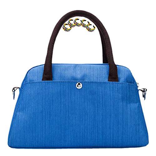 GGLZMMF Nylon Señoras Mini Bolso De Mano Bolsa De Hombro Ligero Anti-Splash Messenger Bolsa De Almohada Bolsa De Almohada Ocio Negocio Bolso Vino Red Khaki Azul Gris Blue-OneSize