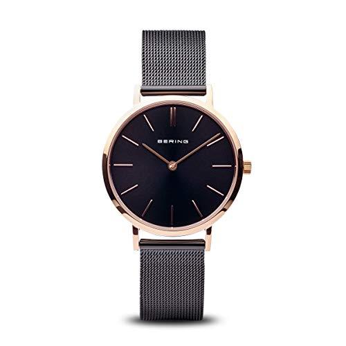 Bering Damen Analog Quarz Uhr mit Edelstahl Armband 14134-166