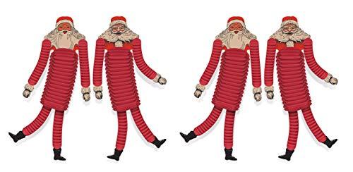 Beistle 20059 Vintage Santa Claus Tissue Paper Dancers 4 Piece Christmas Party Decorations, 21', Red/Off-White/Black