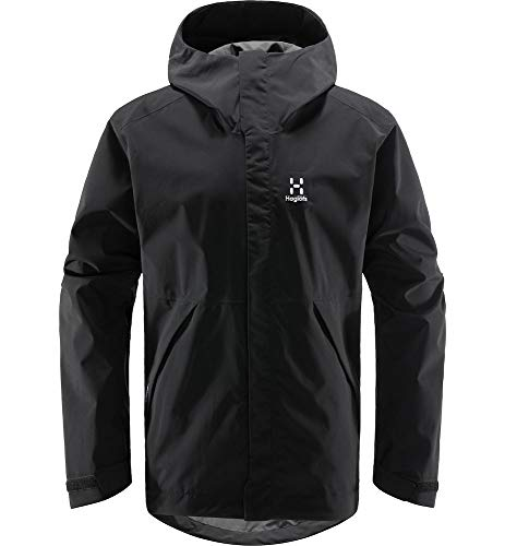 Haglöfs Hardshelljacke Herren Tjärn Jacket wasserdicht, Winddicht, atmungsaktiv True Black M M