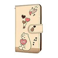 anve iPhone6s iPhone 6s 国内生産 カード スマホケース 手帳型 Apple アップル アイフォン シックスエス 【A.クリーム】 クマ ハート 可愛い best_vc-583