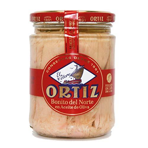 Ortiz, Tuna Bonito Del Norte In Olive Oil Jar, 7.76 Ounce