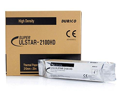 Carta Videostampante Durico Compatibile per Sony Upp-210HD, Confezione da 5 rotoli