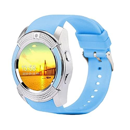 V8 Bluetooth Smart Watch Wristband Fitness Positioning iOS Screen Wristband (Blue)