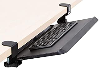 Stand Steady Clamp On Keyboard Tray with Adjustable Tilt | Ergonomic Under Desk Keyboard Shelf | Damage-Free Easy Installa...