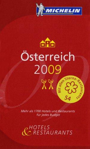 Österreich 2009: Hotels und Restaurants (roter Hotelführer Rest)