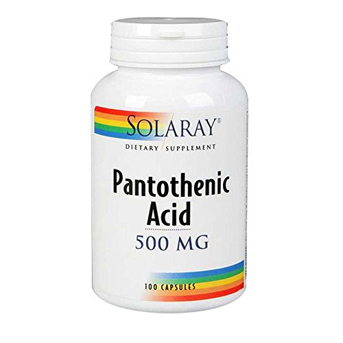 Solaray Pantothenic Acid 500mg | Vitamin B-5 for Coenzyme-A Production & Energy Metabolism | for Hair, Skin, Nails & Digestive Support | 250 VegCaps