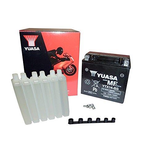 YUASA BATTERIE YTX14-BS AGM aperto con imballaggio acido
