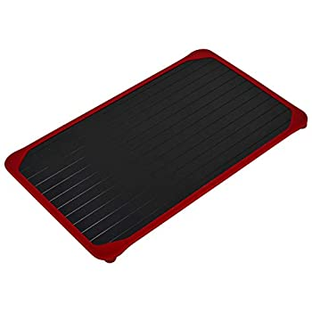 Zintak Professional Defrosting Tray | Thawing Plate for Frozen Meat | NEW Silicone Border Design | EXTRA LARGE Meat Defroster Tray | No Electricity | Meat Thawing Board