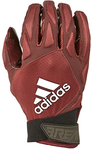 adidas Freak 4.0 Padded Receiver Football Gloves, Small, Maroon - Durable, Premium Football Gear and Equipment