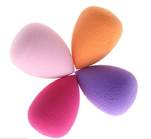 4PCS Maquillage Flawless Blender Foundation Puff Multi Eponges Shape Reutilisable