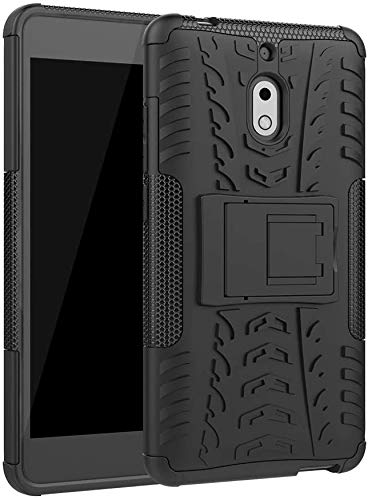 Cassby Shockproof Kickstand Back Cover For Nokia 2.1 – Black
