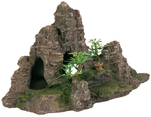 Trixie 8853 Felsformation mit Höhle/Pflanzen, 22 cm Terrarium Deko