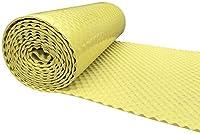 SOOMJ 吸音材 防音シート 遮音シート 壁 ロール波型裏面が粘着テープ付きなのでカットして簡単貼り付け (厚さ約20mm 10M, 黄)