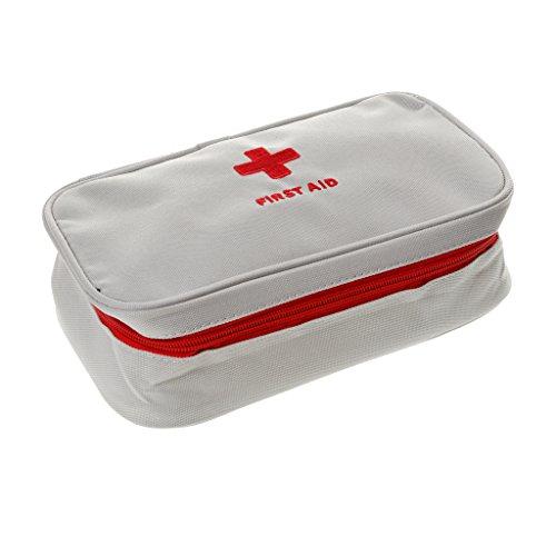 Generic Sac Médical Trousses de Premier Secours Extérieur Case Urgence Traitement Soins Survie Kit Voyage Camping - Blanc, 23 x 13 x 7.5cm