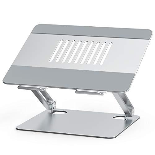 """Besign LSX2 Laptop ständer aus Aluminium, Verstellbarer ergonomischer Notebook-Ständer, Laptop ständer kompatibel mit MacBook air pro, Dell, HP, Lenovo und Anderen 10-15,6"""" Laptops"""