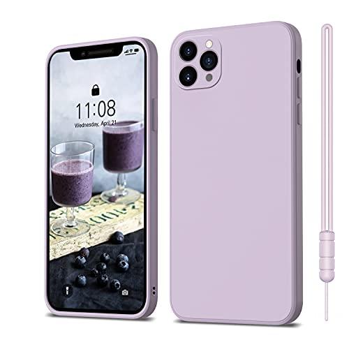 ORDA iPhone 11 Pro Hülle Silikon Hülle, Hanyhülle iPhone 11 Pro Ultra Dünn Slim mit Microfiber, Kratzfeste R&umschutz Hülle Schutzhülle Hülle für iPhone 11 Pro 5.8'' Lavendel Lila