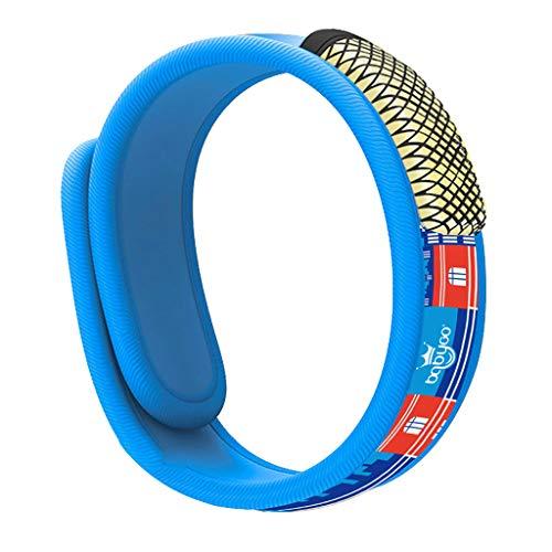 Smony - Sport & Outdoor Mückenabwehr-Armband - Natürliche Sicherheit und Komfort Insektenabwehr-Armband für Kinder, Schwangere Frauen, Mückenvernichter für drinnen und draußen, blau