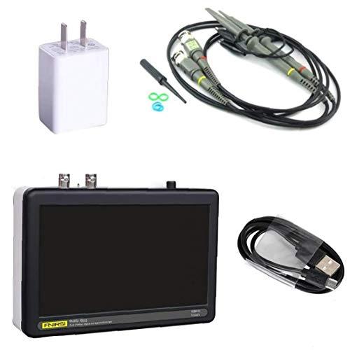 Osciloscopio Digital FNIRSI 1013D 2 Canal 1 GS/s LCD de Pantalla táctil de la Tableta del osciloscopio de 100 MHz de Ancho de Banda Negro Instrumento de medición electrónica