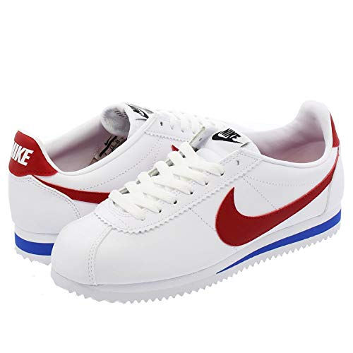 [ナイキ] WMNS CLASSIC CORTEZ LEATHER WHITE/VARSITY RED/VARSITY ROYAL US7-24.0cm [並行輸入品]