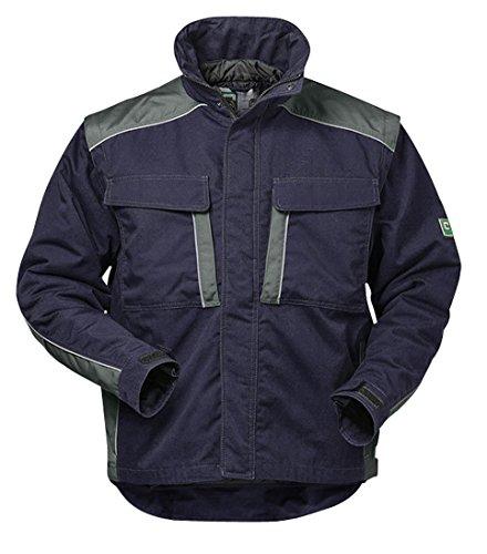 Elysee Canvas Winterjacke Arbeitsjacke Outdoorjacke, hochwertig mit vielen Taschen (M, Marine/Grau)