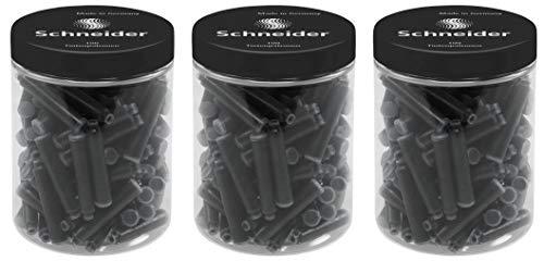Schneider Tinten-/ Standard Patronen (für Füller) 3x 100 Stück schwarz (schwarz, 100er Dose | 3 Stück)