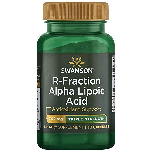 Swanson Triple Strength R-Fraction Alpha Lipoic Acid 300 Milligrams 30 Capsules