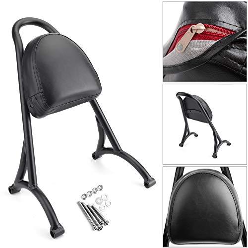 Artudatech Respaldo de motocicleta para respaldo delantero, respaldo de motocicleta Sissy Bar + kit de montaje para Harley Sportster Iron Nightster 883 1200 XL
