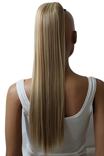PRETTYSHOP 65cm Haarteil Zopf Pferdeschwanz Haarverlängerung Glatt Blond Mix PH615