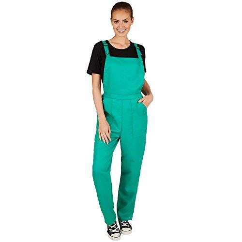 TecTake dressforfun Unisex Latzhose   Kostüm für Handwerker, Gärtner, Bauarbeiter, Neonlook oder auch Bad Tasteverkleidung (Grün   XL   Nr. 301472)